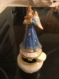 blue white and brown ceramic angel figurine Fairfax, 22030