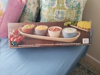 Stoneware serving set brand new