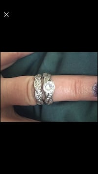 Size 7 sterling silver ring set