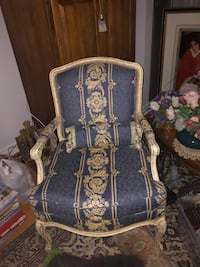 Arm Chair and Ottoman- French Provincial Vaughan