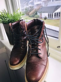 Brown Timberland leather boots