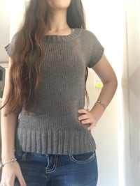 Grey short sleeve knitted shirt Xanthi, 67100