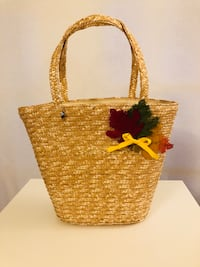 Handmade Decorated Straw Bag McLean