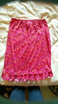 Pink and yellow floral mini skirt Kitchener, N2G 4X6