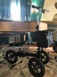 Black and gray tandem stroller. I broke my leg and had to buy this with the off-road tires since I was traveling Europe at the time. I only used it for 6 weeks. It still looks brand new   Los Angeles, 90035