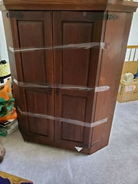 brown wooden cabinet with shelf Laurel, 20708