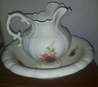 white and moss rose antique wash basin Westminster, 21157