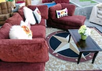 MAROON RED COLOR BEAUTIFUL LOVESEAT LOUNGE TABLE  Las Vegas, 89121