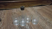 four drinking glass