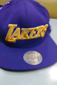 purple and yellow Los Angeles Lakers fitted cap Dallas, 75243