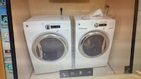 white front load clothes washer and dryer set Herndon, 20170