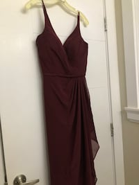 Formal Bridesmaid Dress - Maroon Size 4 3727 km
