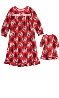 Minnie Mouse night gown & matching doll gown size 3t New! Essex, 21221