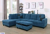 Beautiful sectional with ottoman