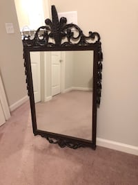 Rectangular black wooden framed mirror Greenville