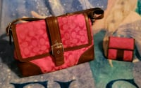 Pink coach with matching wallet  Kingston, 18704