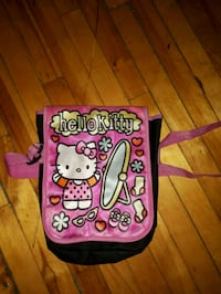 pink and black Hello Kitty print crossbody bag Montréal, H4L 3J3