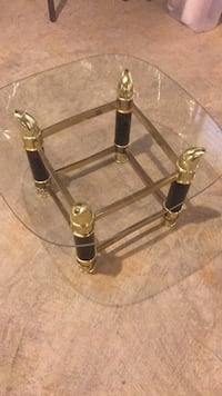 Gold and black end table Olney, 20832