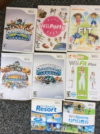 Each/wii games Shown Mint condition. //SPORT & RESORTS GONE!