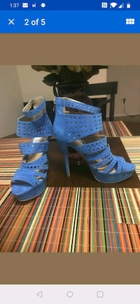 Sky Blue Stilettos Size 8.5 New Cute Summer Heels. Silver Spring, 20904