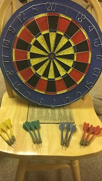 Dart board game with darts and  game rules Rochelle Park, 07662