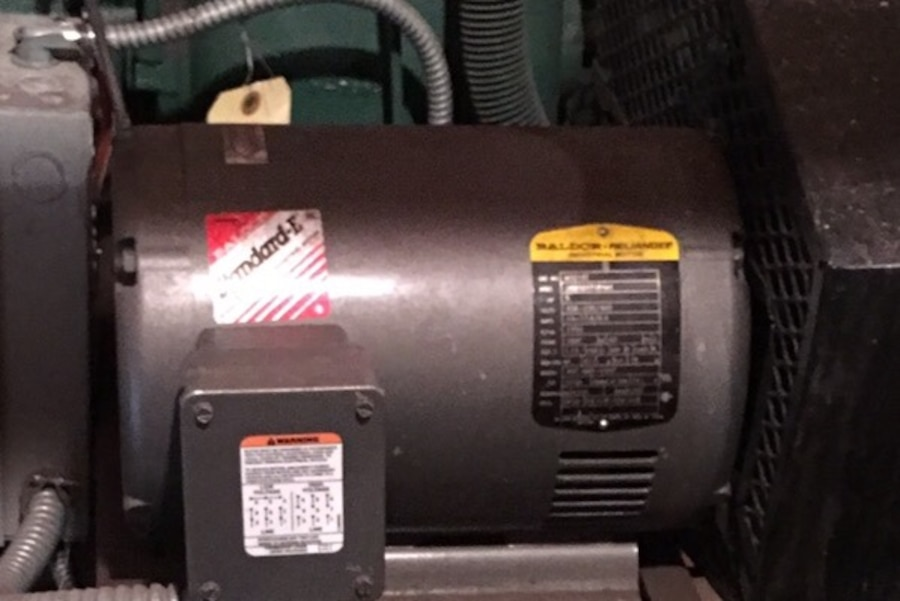 Baldor Electric Air Compressor Motor 5 Hp 3 Phase In