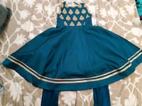 Teal and gold indian party dress Toronto, M1K 4H7