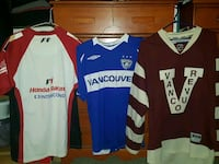 three assorted-color jersey shirts Vancouver, V5L 2C7