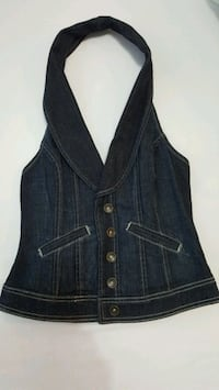 Guess women's backless denim vest