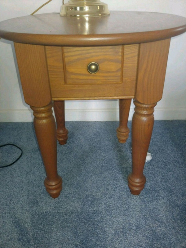 2 Small Round End Tables