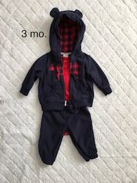 3 months navy/red bear outfit  Albany, 12205