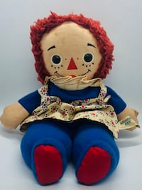 Raggedy Ann Doll vintage used condition