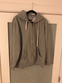 Grey Tommy Hilfiger, zippered, hooded sweatshirt. Lauderdale-by-the-Sea, 33308