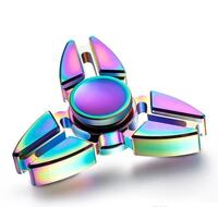 New Fidget Spinners Rainbow Metal 4 models with box for storage and transportation