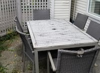 Patio table and 6 chairs Vancouver