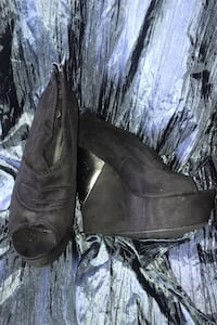 Womans suede wedges size 8