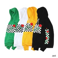ZACKIE BLACK ROSE CHECKERED HOODIE PULLOVER  Istanbul
