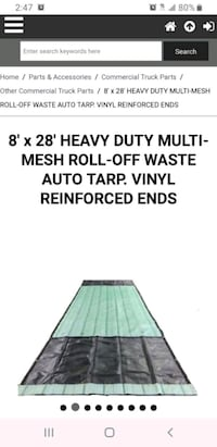 3 Heavy duty 8ft x 28ft Truck and trailer tarps