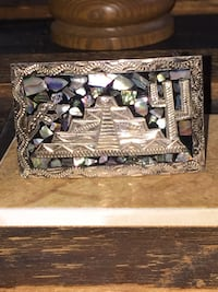 Silver and Mother of Pearl belt buckle. Maryville, 37801