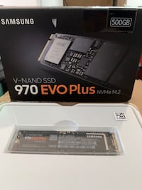 Hard drive 500GB Samsung EVO Plus NVMe pci-e $130