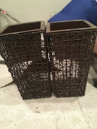 Rattan planter stands with metal inserts to place pots Herndon, 20170