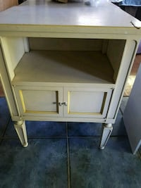 two shabby chic wood end tables side tables cream  Vaughan, L4H 1V9