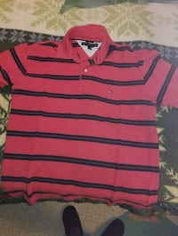 red and navy stripe polo shirt Vienna, 22180