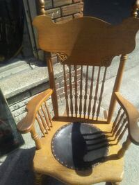 brown wooden windsor rocking chair Montreal, H8S 3P7