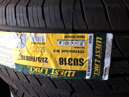 255 60 r18 one new winter tire