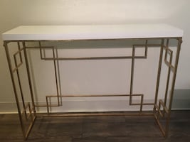 White and gold accent table