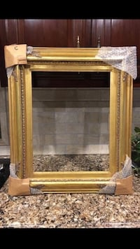 "21 x 25 "" Gold Frame with 14 x 18 opening"