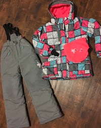 Deux par Deux winter snowsuit snow pants bib with jacket sz 12 like new No wear at all Edmonton, T5W 0P7