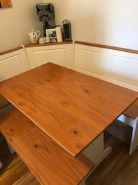 Dining table booth with bench storage!
