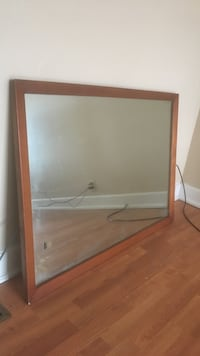 Rectangular mirror with brown wooden frame Huntington, 25703
